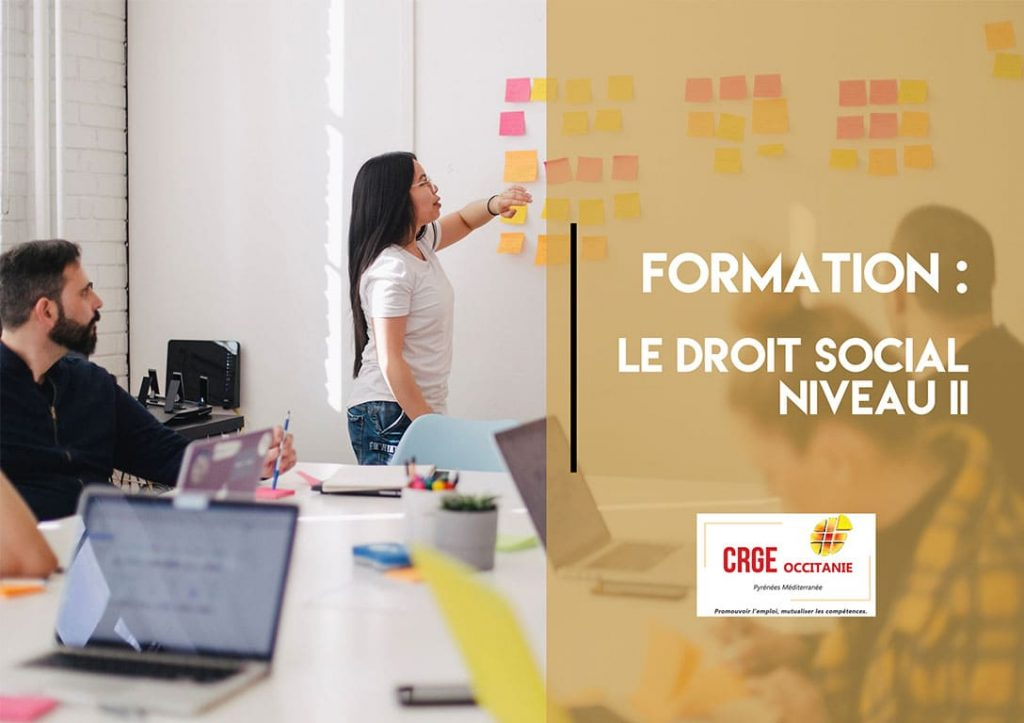 Formation : Le droit social niveau II – 15 et 20 Octobre 2020