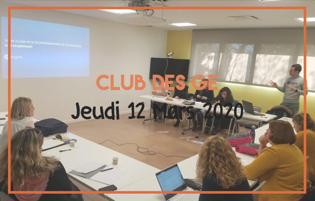Club des GE du CRGE Occitanie – 12 Mars 2020