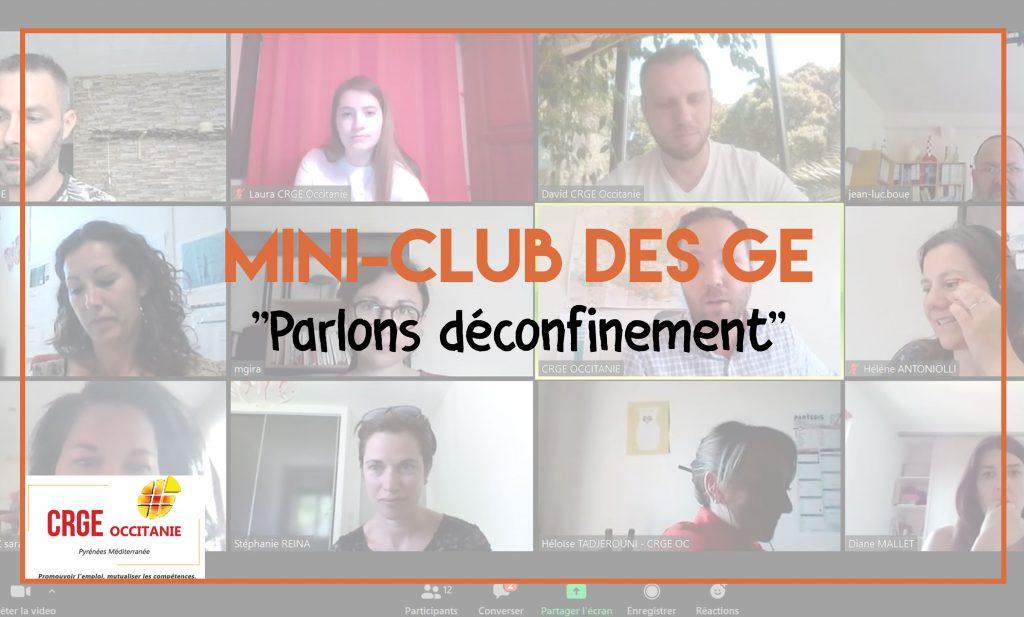 """Mini-club des GE : """"Parlons Déconfinement"""""""