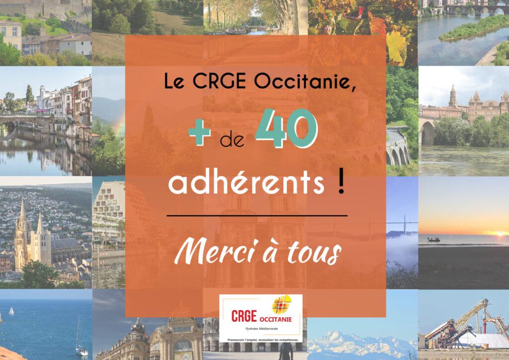 Plus de 40 adhérents au CRGE Occitanie