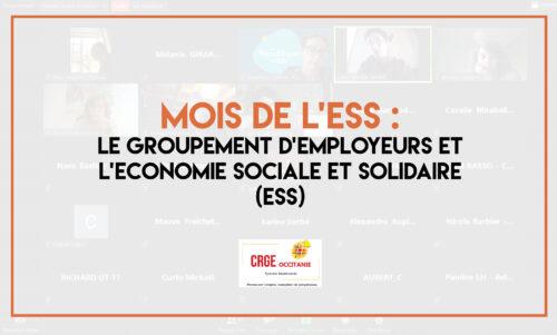 Les Groupements d'Employeurs et le mois de l'ESS - CRGE Occitanie
