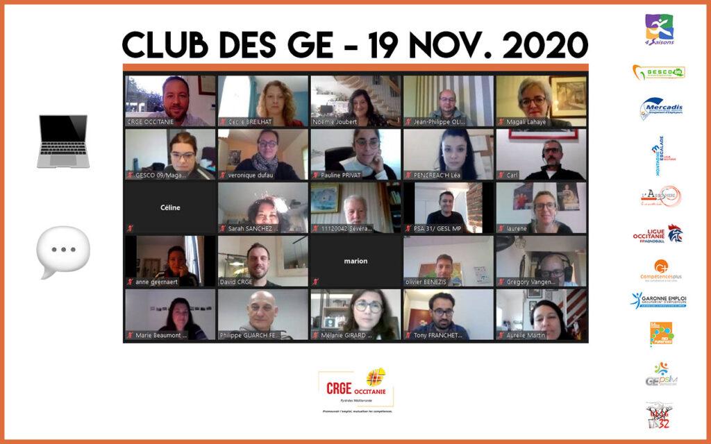 Clubs des GE du CRGE Occitanie – Novembre 2020