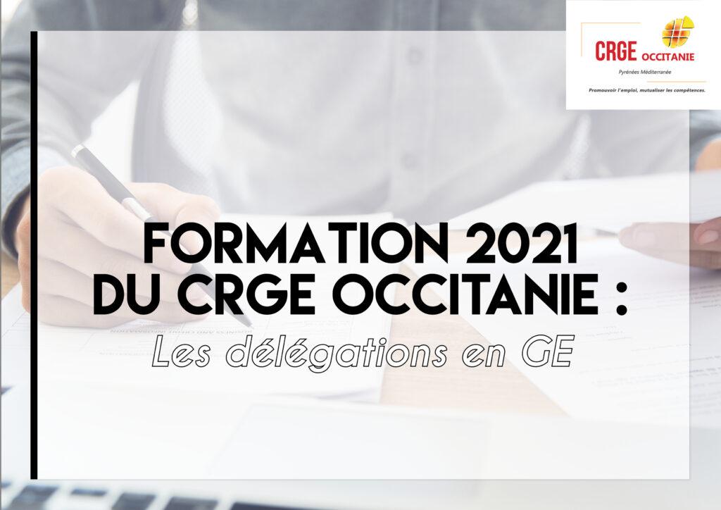 Formation : Les délégations en GE – 14/15 Avril 2021