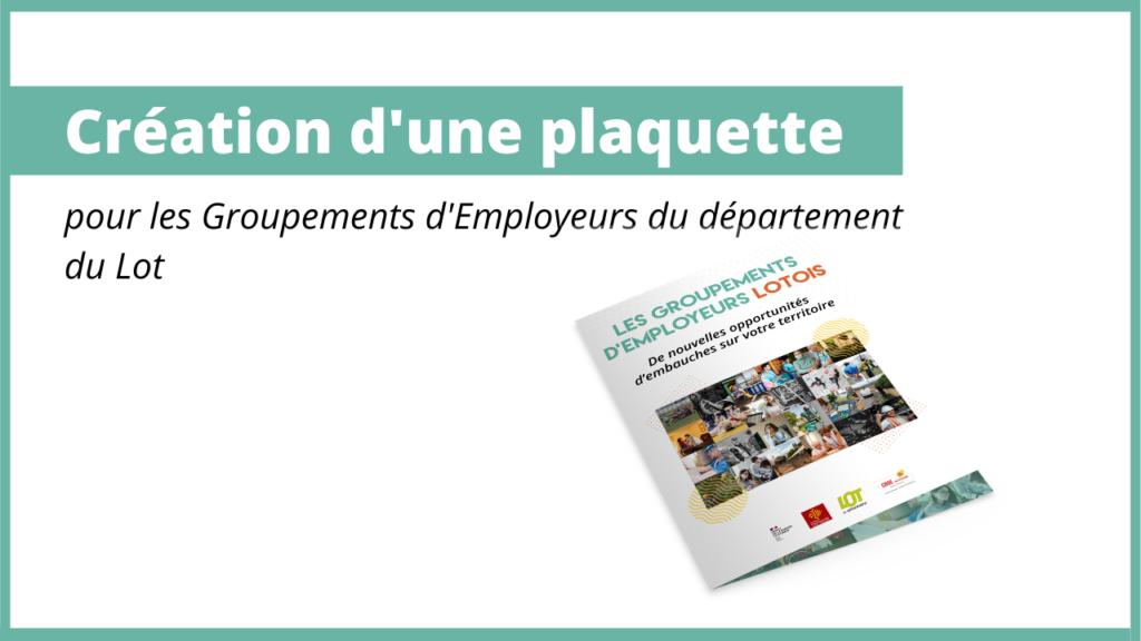 Plaquette – Les Groupement d'employeurs du Lot