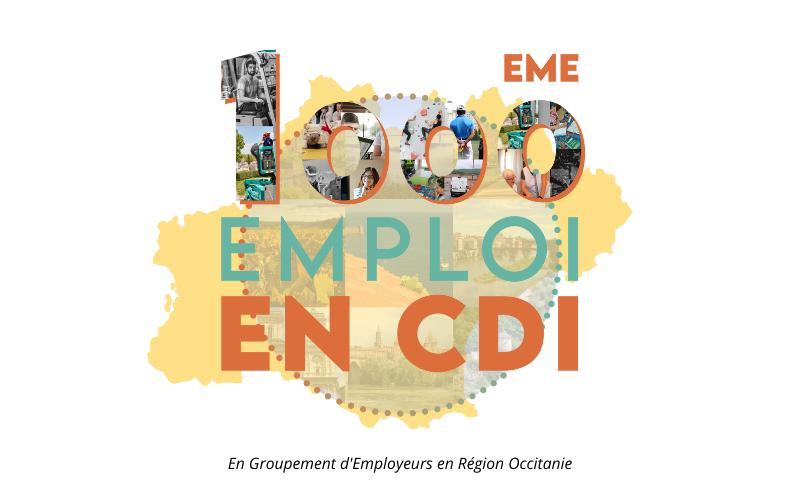 <u>1000eme CDI en Groupement d'Employeurs ! 🎉</u>